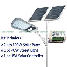 Solar Lighting System Kit:40W LED Street Light+2*100W Solar Panel+15A Controller