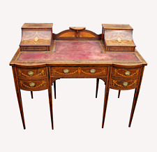 A lovely English Rosewood & Satinwood Marquetry Inlaid Writing Desk