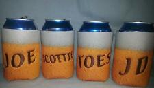 PERSONALIZED EMBROIDERED Koozie Can Cover Beer Can Pattern!