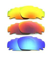 NEW POLARIZED VENTED FIRE/LIGHT RED/BLUE  LENS FOR OAKLEY JAWBONE RACING JACKET