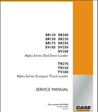 Case SV185 SV250 SV300 TR270 TR320 TV380 Skid Steer Loader Service Manual CD