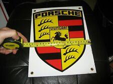 Porsche Porcelain Stuttgart 12 X 9 inch Sign - Beautiful
