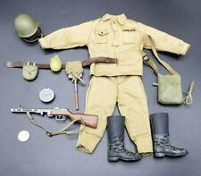 "1:6 Ultimate Soldier WWII Russian Infantry Uniform Lot 12"" GI Joe Dragon PPSh-41"