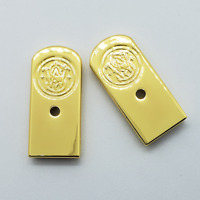 2 X Custom Smith & Wesson Factory Magazine Floor plate, 10mm Gold Plated