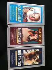 COLLECTOR'S EDITION VHS Lot Of 3 LASSIE, Return Of Rin TinTin, Call Of The Wild