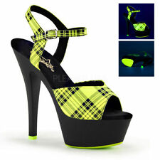 """Very High Heel (greater than 4.5"""") Check Court Shoes for Women"""