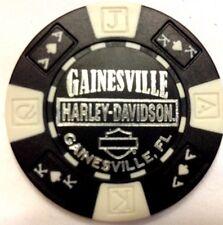 Harley Poker Chip   GAINESVILLE HD  GAINESVILLE, FL    BLACK