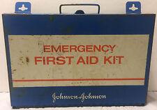 Vintage Metal Wall Mount Johnson & Johnson First Aid Emergency Kit 1980s Garage