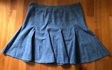 Kenneth Cole NY Women's Denim Jean Mini Godet Skirt Size 8 P