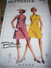 1967 BUTTERICK BOUTIQUE #4619 - LADIES PRETTY TWO STYLE RETRO DRESS PATTERN 16uc