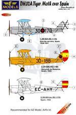 LF Models Decals 1/72 DE HAVILLAND D.H.82A TIGER MOTH Over Spain
