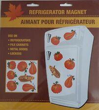 NEW Fall Thanksgiving Refrigerator Magnets Pumpkins Leaves ~ Pumpkins FREE SHIP