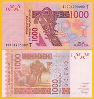 West African States 1000 Francs Togo (T) p-815Tk 2019 UNC Banknote