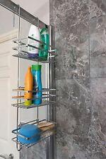 3 Tier Silver Metal Hanging Shower Caddy Bathroom Storage Shelf Organiser Basket