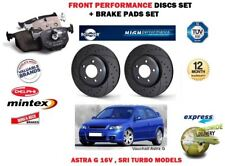 FOR OPEL VAUXHALL ASTRA G 2.0 SRI 2000> FRONT PERFORMANCE BRAKE DISCS + PADS KIT