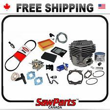 Fits STIHL TS400 Cylinder/Piston, Carburetor, Air filter, Belt, O-H Rebuild Kit