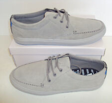RRP £39.50 Men's New Grey Full Suede Leather Lace Up Trainers Shoes Sizes 6-12