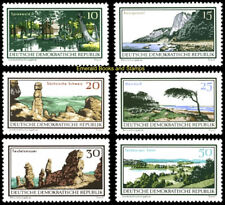 EBS East Germany DDR 1966 Nature and landscape protection Michel 1179-1184 MNH*