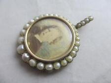 Pearl Yellow Gold Pendant/Locket Victorian Fine Jewellery