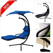 Chair Floating Canopy Umbrella Hanging Chaise Lounger Swing Lounge Seat Beach Na