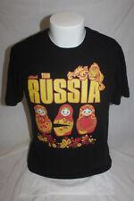 Russia National Team Men's Black T Shirt Size 48 Medium Libero-V