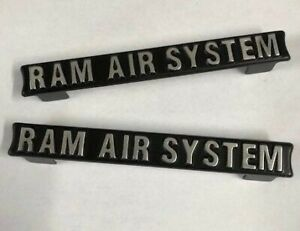 RAM AIR SYSTEM EMBOSSED PLATES for SUZUKI GT380, GT550 BRAND NEW *NOT STICKERS*