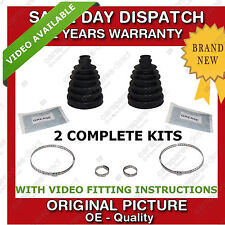 2x AUDI OUTER CV JOINT BOOT KIT CUT TO SIZE NEW