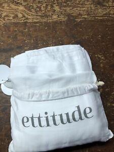 Ettitude Bamboo Lyocell King Size Sheet Set Feather White NEW