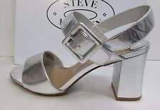 Steve Madden Size 8 Sandals Heels Silver New Womens Shoes