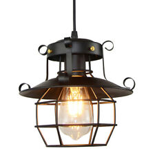 Hollow Chandelier Metal Fishermans Cage Ceiling Light Pendant Vintage Lamp