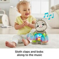 Fisher-Price Linkimals Smooth Moves Sloth Baby Learning Toy with Music & Lights