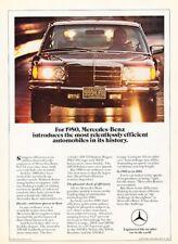 1980 Mercedes Benz 300SD Diesel Original Advertisement Print Art Car Ad J994