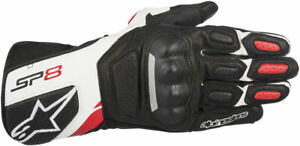 Alpinestars SP-8 V2 Touchscreen Leather Motorcycle Gloves (Black/White/Red) 2XL