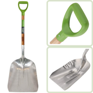 Gray 46-Inch AMES 2672400 Aluminum Scoop with Hardwood Handle and D-Grip