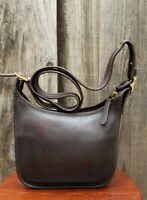 Coach Janice #9950 Legacy Brown Leather Crossbody Bag Purse, Vintage