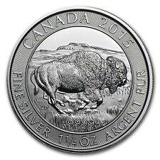 2015 Canada 1.25 oz Silver $8 Bison BU - SKU #86940