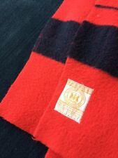 "Hudson Bay Blanket 4 Point Red & Black  86"" x 64"" Wool"