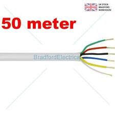 6 Core Alarm Cable 50m. meter White. Top Quality CQR British Made. Free UK
