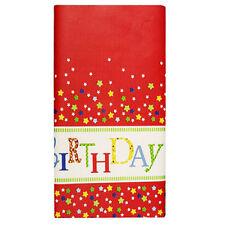 15 Papier Tischdecken 120 cm x 180 cm Happy Birthday Party lackiert