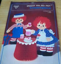 1974 Ambassador/Hallmark Centerpiece Decoration  Raggedy Ann and Andy Party Time