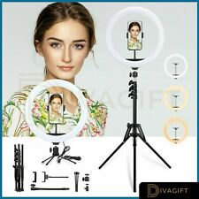 """12"""" LED Ring Light Lamp Stand Kit Dimmable Photo Studio Selfie Phone Live Makeup"""