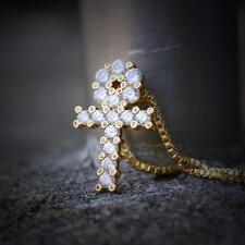 Mini 18k Gold Egyptian Ankh Key Of Life Necklace