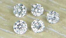 2.0mm 0.16cts 5pc Natural Loose Brilliant Cut Diamond I1 Clarity  J Color Fine