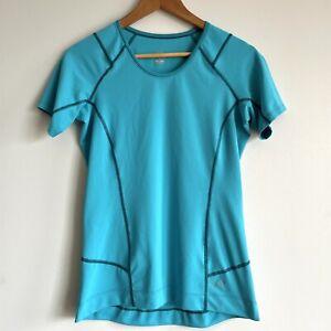 Arc'teryx Running T-Shirt Top Short Sleeve Aqua Blue Women Size Small Arcteryx