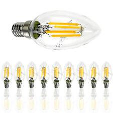 10er e14 4w LED lámpara luz Filament bombilla 400 lumen 3000k blanco cálido Vela