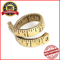 Twisted Tape Measure Ring Gold & Silver  For Women Fashion Accessories Jewelry