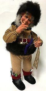 """Demdaco Drolleries With A Twinkle In His Eye 14"""" Santa Christmas Figure"""