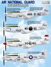 P-51 ANG Mustangs: AR, MS, SD, IN Air National Guard (1/48 decals, Iliad 48024)