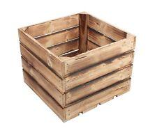 Sets Geflammte Holzkisten Apfelkisten Obstkisten Holz Weinkisten 40x40x30cm S5-O