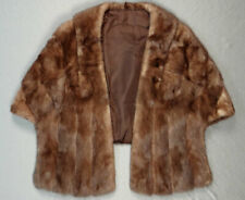 Vintage Fur Capelet,  Vintage Fur Stole Lined with Front Pockets